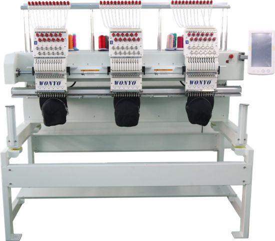 Wonyo 3 Head Computerized Monogram Embroidery Machine Good as Tajima Embroidery Machine