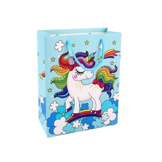 Fsc 3D Gift Shopping Packaging Gift Paper Bag with Tag