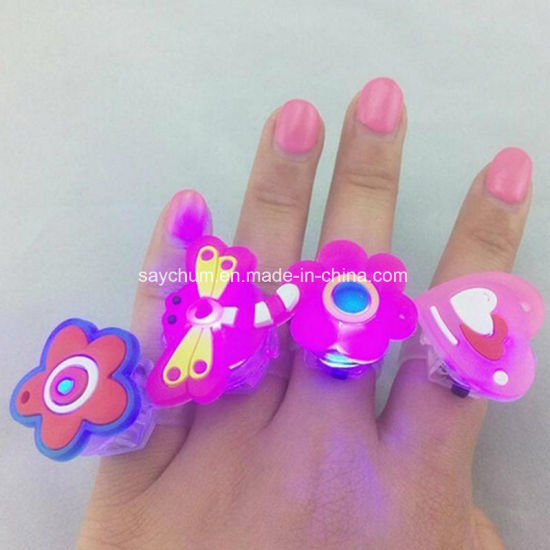 LED Light Jelly Like Cartoon Flashing Finger Ring Elastic Ring Event Party Supplies Glow Toys pictures & photos