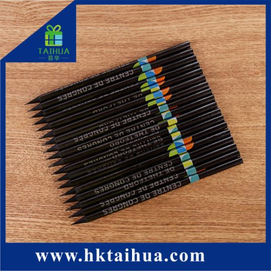 High Quality Hb 2bblack Wood Pencil with Custom Logo for Promotion pictures & photos