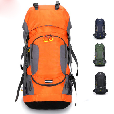 Sports Outdoor Backpack 60L Hiking Bag with Rain Cover Camping Backpack