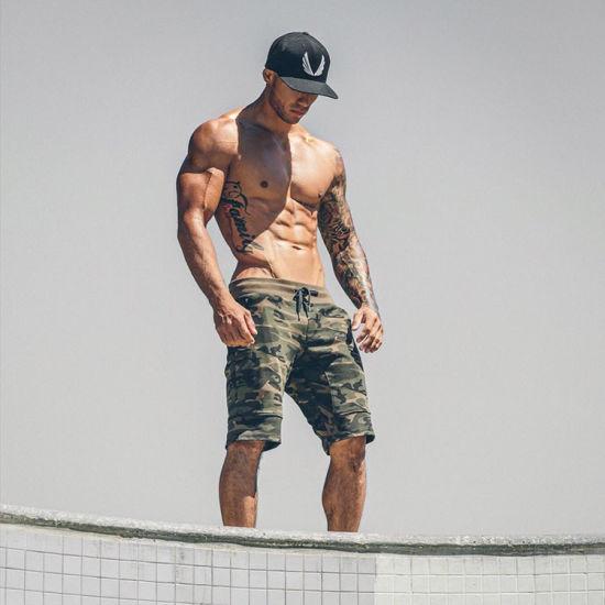 6dd2b75a10 Wholesale Jogger Sweat Shorts Custom Fitness Camo Army Green Gym Men Print  Shorts Pants