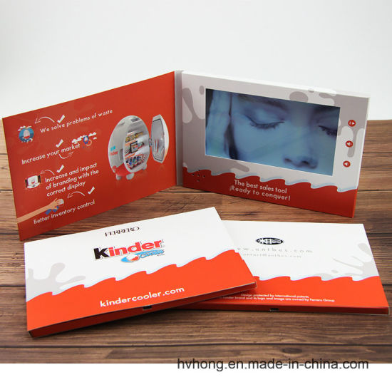 7 Inch TFT Video LCD Business Name Card With 19201080 Display Resolution
