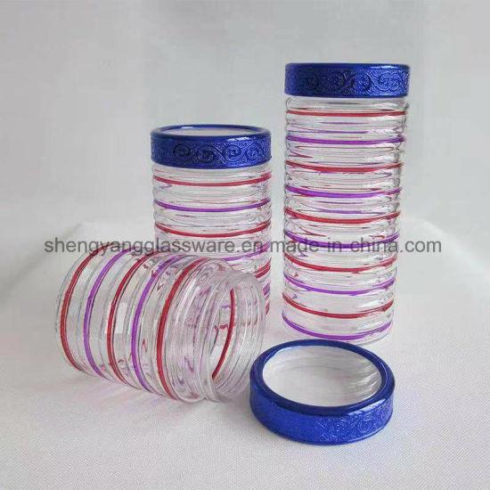 Color Plating Glass Fruit Bottle Food Storage Bottle for Kitchenware