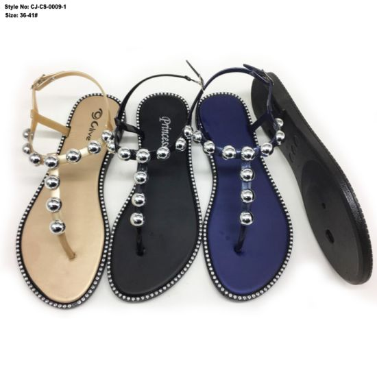 5e1d636a8d3c China Flat Shoes Latest Fashion Sandals for Women Slide Sandal ...