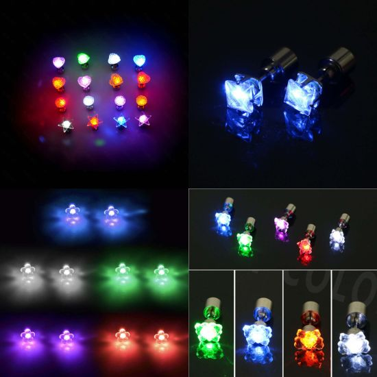 Led Earrings Glowing Bright Stylish Ear Pendant Light