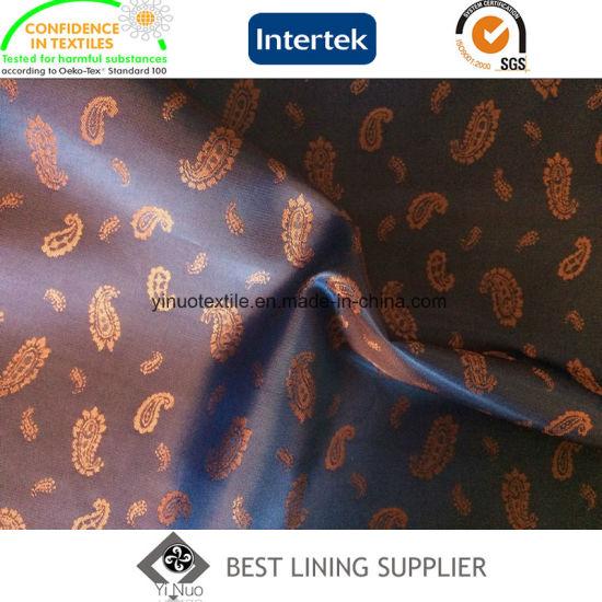 Fashion T/R Men's Suit Blazer Paisley Jacquard Lining Fabric Manufacturer