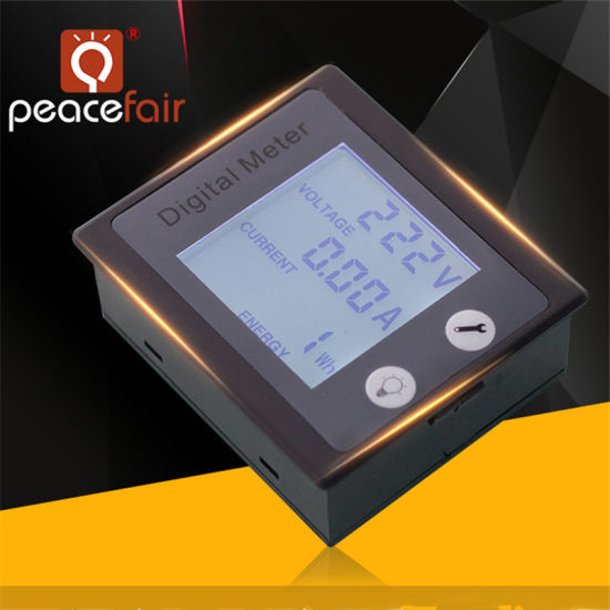 360 Degree LCD AC Single Phase 0-10A Voltage Current Power Electronic Energy Meter