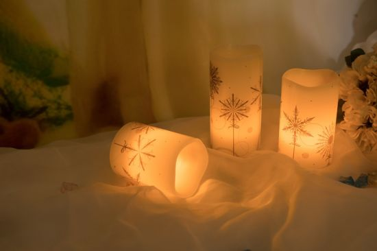 Snow LED Candle Light for Christmas Gift pictures & photos