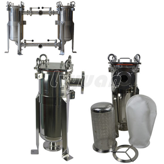 1 to 100 Microns Single/Multi Bags 304 316L Stainless Steel Bag Water Filter Housing with Quick Bolt pictures & photos