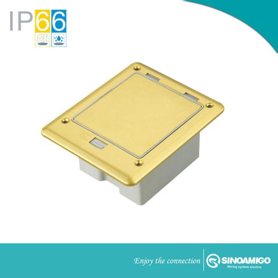 IP66 Si Floor Power Receptacle Boxes