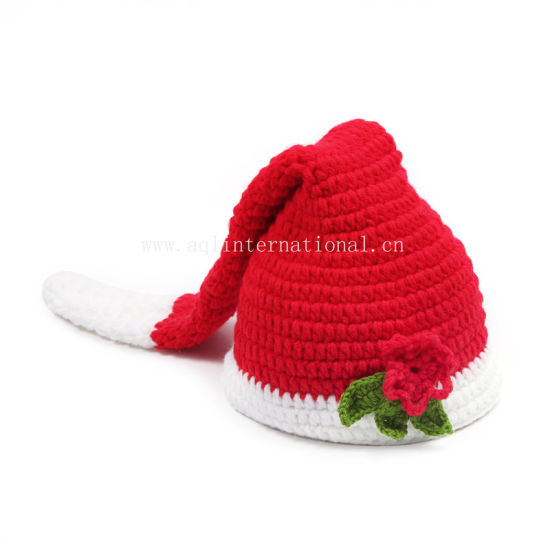 China Custom Baby Crochet Hats Hand Knitted Christmas Hat with ... 21077a5b3aed