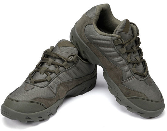 Green High Quality Leather Military Shoes Sneaker Wholesale Tactical Boots