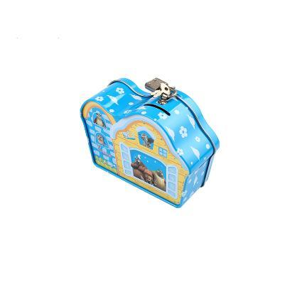 Wholesale Food Storage House Shaped Gift Candy Metal Tin Box