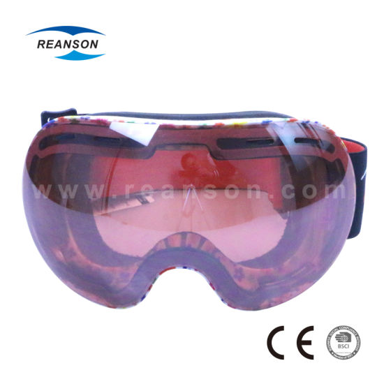 Large Size Comfortable Professional Snow Goggles pictures & photos