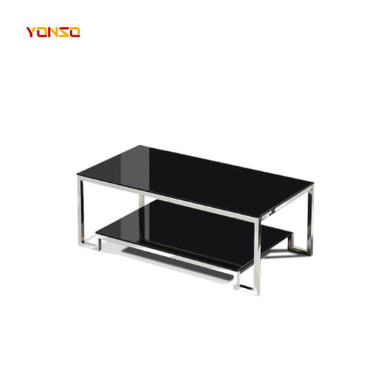 China Cheap Office Black Tea Table Small Tempered Coffee Table China Tea Table Center Table