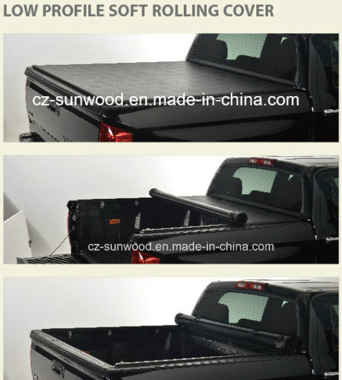 China Low Profile Soft Roll Up Tonneau Cover China Tonneau Cover Soft Tonneau Cover