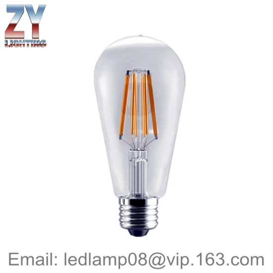 St64 4W/6W8w B22/E27 Dimmable LED Lamp pictures & photos