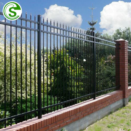 Black Steel Fence 6FT Wrought Iron Fence for Garden