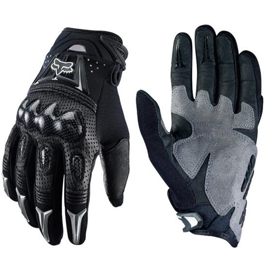 Black Quality Carbon Fiber Sports Gloves for Motorcycle Rider (MAG13)