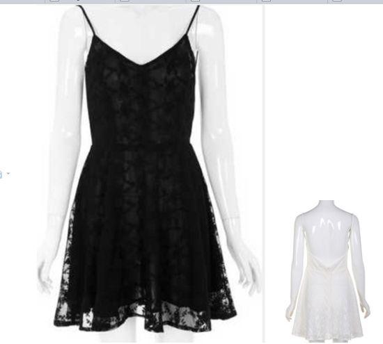 New Fashion Free Prom Bckless White Ladies Slip Lace Dress