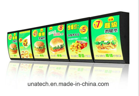 china indoor restaurant fast food led lamps acrylic back lighting