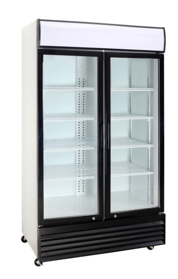 Double Door Upright Showcase Transparent Door Cooler with Dynamic Cooling pictures & photos