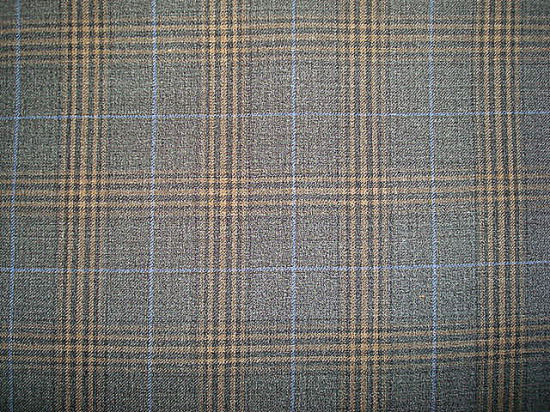 Wool Polyeter Suit Check Fabric pictures & photos
