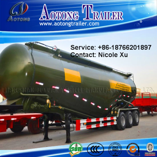3 Axle 30t Low Density Bulk Cement Tank Semi Truck Trailer (W type) 73m³ (LAT9408GFL) pictures & photos