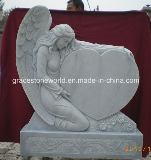Marble Angel Tomestone with Top Quality Carving pictures & photos