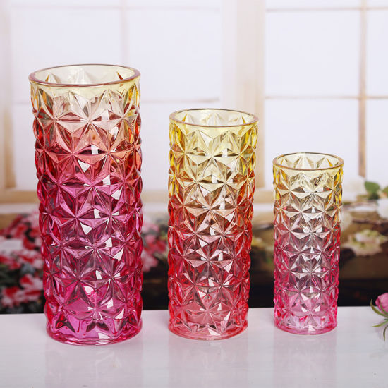 Fashionable Colored Glass Flower Vase Crystal Vase China Flower Vase And Flower Glass Vase Price Made In China Com