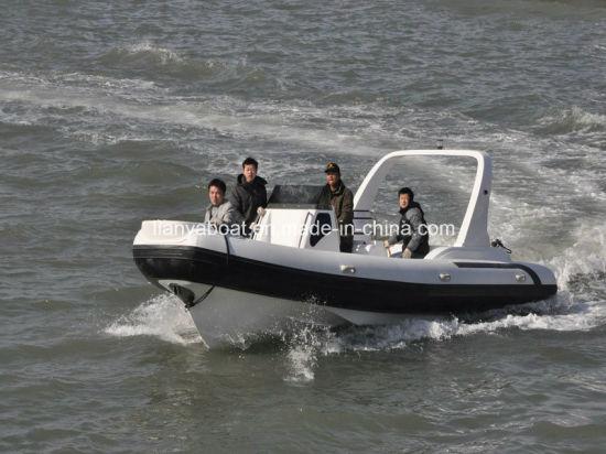 China Liya 7 5m Central Console Boat Inflatable Hard Bottom Boats