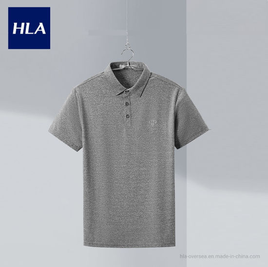 Hla Sweat-Absorbent Quick-Drying Short-Sleeved Polo 2020 Summer New Sports Series Short T Men