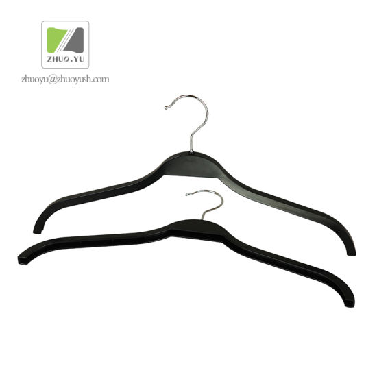Cheaper PS Plastic Coat / Shirt / Garment Hanger for Brand Clothes pictures & photos
