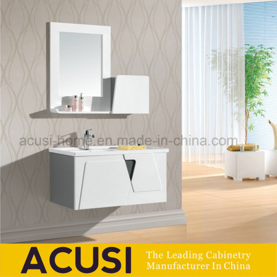 Small White Color Wall Hanging Plywood Modern Bathroom Cabinet Acs1 L21