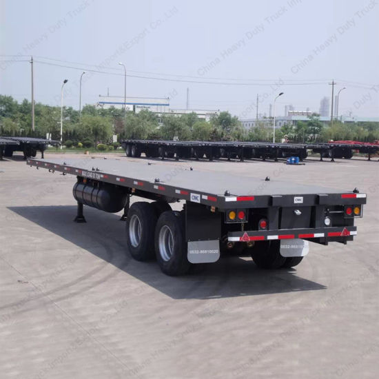 China 2 Axles 40FT Skeleton Semi Trailer/ Container Chassis Truck Trailer pictures & photos