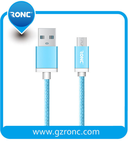Mobile Phone Accessories Nylon Braided 1m Micro USB Cable