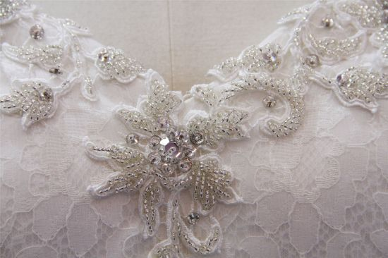 Spaghetti Beading Lace Mermaid Bridal Wedding Dress pictures & photos