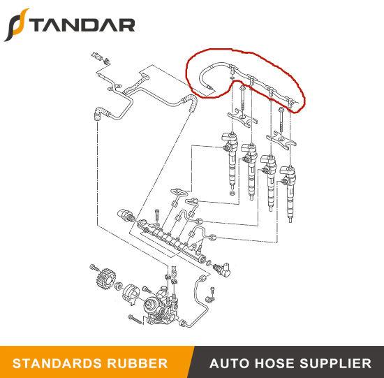 SKODA 2.0 TDi INJECTOR FUEL RETURN PIPE FITS AUDI 03L130235N SEAT VW