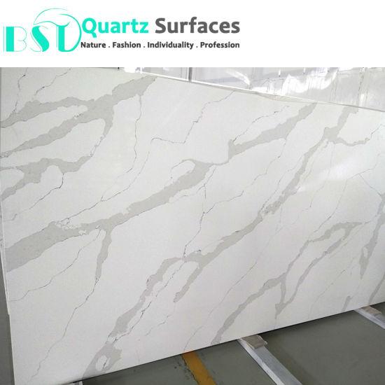 China 2017 Calacatta Nuvo White Quartz Stone Slabs China Quartz