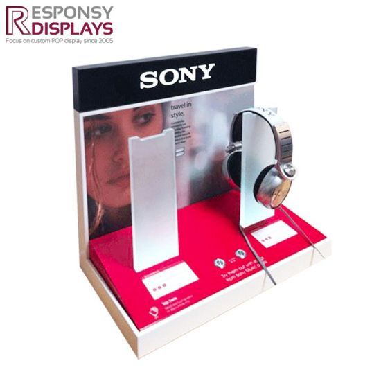 Counter Acrylic Earphone Headphone Display Stand pictures & photos