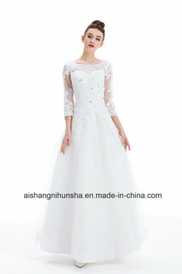 China Luxury French Tulle Lace Marriage Dress Vintage Bride Bridal ...