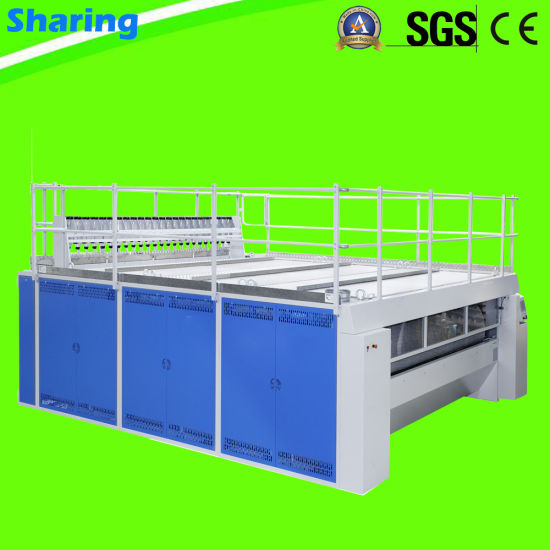 Double Roller 3300mm Industrial Bedsheets Chest Flatwork Ironer for Hotel Laundry