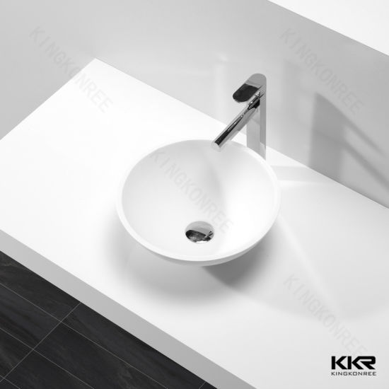 China Mold Made Basin Sinks Bathroom Corian Solid Surface Wash Basin - Molded bathroom sinks