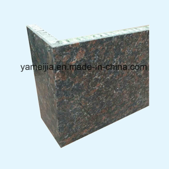 Black Color Round Shape Stone Marble Aluminum Honeycomb Panels pictures & photos