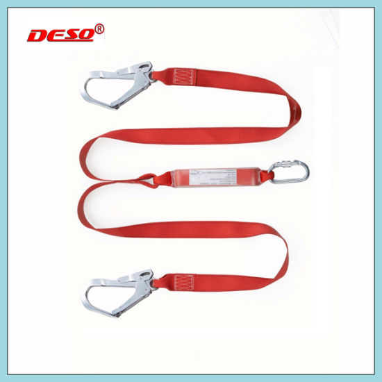 Double Hook Safety Lanyard Made Automatically with Elastic Sewn pictures & photos