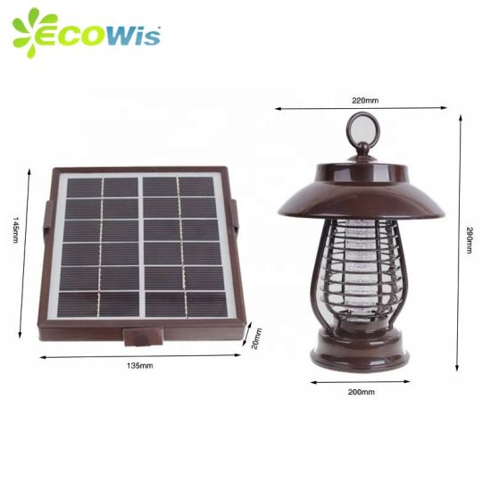 Waterproof Solar Power Outdoor UV LED Insect Killing Lamp Mosquito Killer