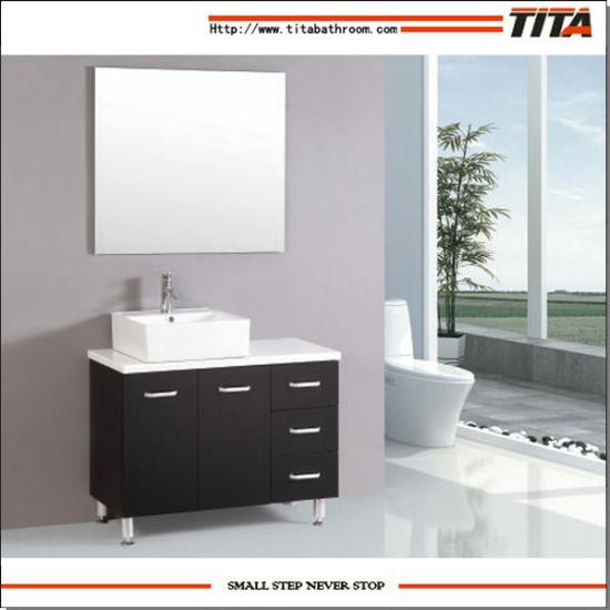 China Tita Modern Black Cheap Bathroom Furniture Cabinet with ...