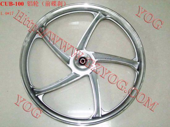 Yog Spare Parts Motorcycle Aluminum Rim Complete Alloy Wheel for Cub 100
