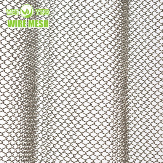 Stainless Steel Chain Link Decorative Mesh for Curtain Wall/Room Divider/Ceiling/Fireplace Curtain pictures & photos